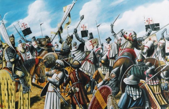 Battaglia-di-hattin-dipinto-di-luca-ferrotti